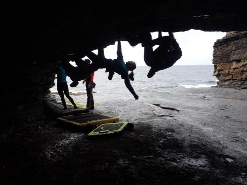 Rock climbing in Donegal