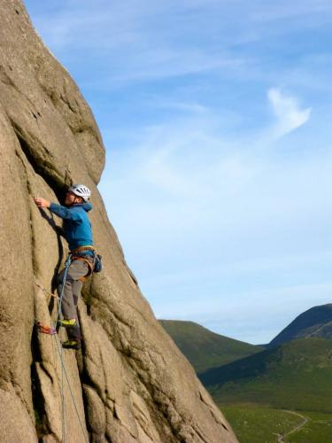 Rock climbing in the Mournes