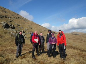 Navigation training in the Mournes.
