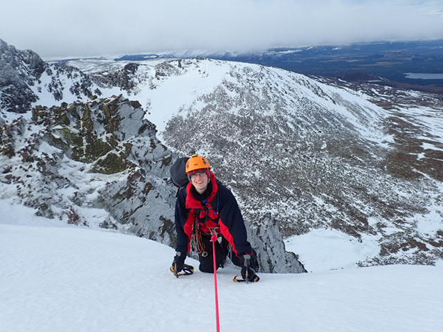 Topping over above Aladdins Couloir